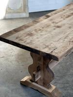 French Bleached Refectory Farmhouse Dining Table (16 of 21)