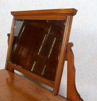 Satinwood Dressing Table Mirrored Arts & Crafts (9 of 10)