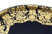 Victorian Decorated Black Lacquer Tray on Stand Coffee Table (11 of 11)