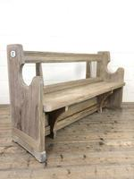 Antique Pine Chapel Pew Bench (6 of 9)