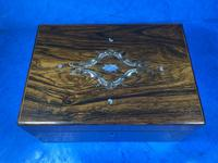 Victorian Rosewood Jewellery Box with Inlay (12 of 14)