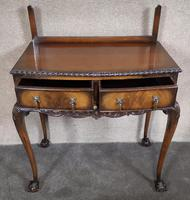 Mahogany Chippendale Style Table with Glass Gallery (5 of 10)