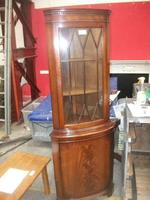 Glazed Mahogany Corner Cabinet