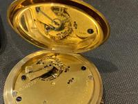 18ct Full Hunter Pocket Watch by Rotherham's of London (12 of 12)