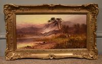 "Oil Painting Pair by Sidney Yates Johnson ""Morning & Evening in the Highlands"" (3 of 7)"