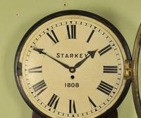 Early Large Convex Wooden Dial Clock (5 of 10)