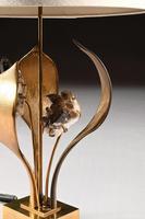 Impressive 1970 Gilt Bronze and Quartz Lamp by Willy Daro (7 of 10)