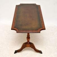 Antique Regency Style Mahogany Leather Topped Coffee Table (8 of 8)