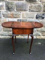 Antique Burr Walnut Drop Flap Side Table (5 of 9)