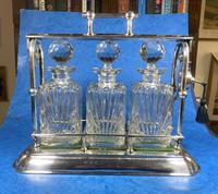 Edwardian Silver Plated Tantalus c.1905 (8 of 14)