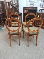 4 Victorian Walnut Chairs (4 of 5)