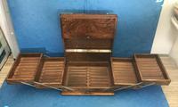 Victorian Brassbound Walnut Cigar Box (3 of 19)