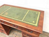 Reproduction Yew Wood Kneehole Desk (7 of 12)