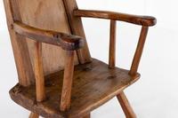 18th Century Belgian Primitive Ash Chair (5 of 6)