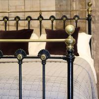 Late Victorian Cast Iron Antique Bed in Black (4 of 8)