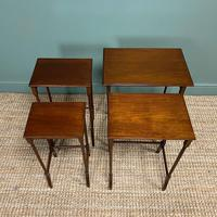 Stunning Set of Four Edwardian Antique Nest of Tables (5 of 5)