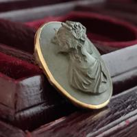 Antique Lava cameo brooch, 9ct gold (4 of 8)