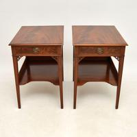 Pair of Antique Mahogany Side /  Bedside Tables (2 of 12)