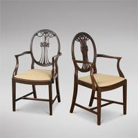 Set of Eight Mahogany Dining Chairs c.1900 (2 of 5)