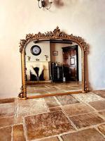 Antique Gold Mirror / Gilt Mirror / Large Mirror (6 of 9)
