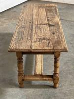 French Rustic Bleached Oak Coffee Table (14 of 17)