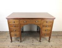 Antique Edwardian Inlaid Mahogany Desk (2 of 12)
