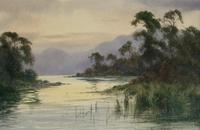 Edward H.Thompson Pair of Wwatercolours of the lake district ' the jaws of borrowdale, derwenter' and   ' eventide,rydal water' (5 of 5)