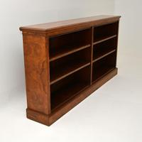 Antique Victorian Burr Walnut Double Open Bookcase (11 of 12)