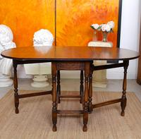 Oak Gateleg Dining Table & 4 Chairs Arts Crafts (12 of 17)