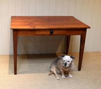 Small Proportioned French Provincial Cherry Wood Table (10 of 10)