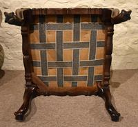Victorian Carved Rosewood English Stool (5 of 5)