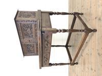 Antique Oak Carved Desk (10 of 13)