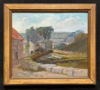 'A Derbyshire River Landscape' - Original 19th Century Framed Oil Painting