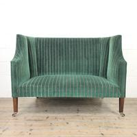 Edwardian Upholstered Wing Back Couch (9 of 9)