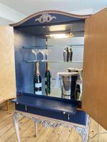 Vintage Burr Walnut Louis XV Style Drinks Cabinet (4 of 12)