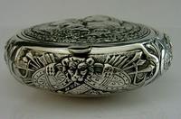 Super Rare German 800 Solid Silver Napoleon Tobacco Snuff Box c.1900 (5 of 10)
