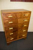 Lovely Walnut Art Deco Chest of Drawers (5 of 11)