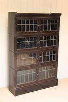 Dark Oak Sectional Stacking Bookcase (6 of 10)