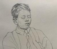 William Robert Hay - Original - Seated Student Portrait Pencil Drawing (5 of 12)