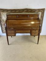 Stunning French Empire Cylinder Desk with Marble Top (8 of 11)