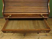 Antique Oak Roll Top Writing Desk, Tambour Front Bureau Desk (9 of 20)
