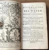 1760 A Dissertation on the use of Sea Water in the Diseases of the Glands. particularly the Scurvy,  Jaundice,  Kings Evil, Leprosy and the Glandular Consumption (2 of 5)