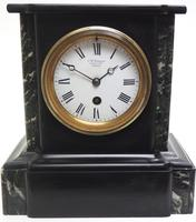 Antique French Slate & Marble 8 Day Mantel Clock J W Benson (8 of 8)