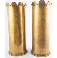 WW1 Trench Art 1918 Pair of Shells (4 of 5)