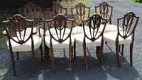 1960's Mahogany Set 8 Wheatcheaf Design Dining Chairs with Pop Out Seats (3 of 3)