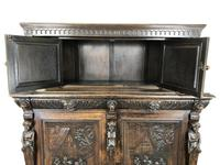 Antique 19th Century Carved Oak Court Cupboard (15 of 24)