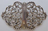 Rare Scottish Victorian 1897 Hallmarked Solid Silver Nurses Belt Buckle Glasgow (3 of 8)