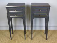 Antique Pair of Painted Bedside Cabinets Brass Mounts (8 of 8)