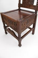 Victorian Gothic Carved Oak Chair Dated 1869 (8 of 13)