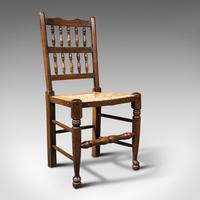Set of 12, Antique Lancashire Chairs, Beech, Spindle Back, Seat, Edwardian, 1910 (2 of 12)